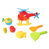 strandset met helikopter 7-delig rood