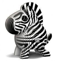 3D-puzzel Zebra junior 6,2 x 4,4 cm karton zwart/wit