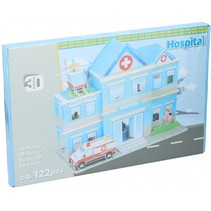 puzzel 3D ziekenhuis 122 stukjes