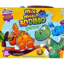 3D-puzzel Mix and Match Dino 33 stukjes