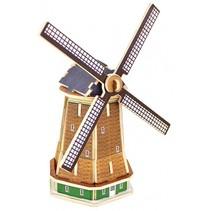 3D-puzzel Molen hout 12 cm 36-delig