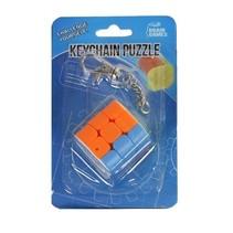 sleutelhangerpuzzel kubus scherpe hoek 4 cm