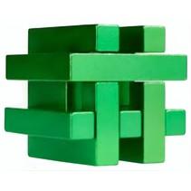 Breinbreker puzzel in blik groen