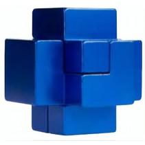 Breinbreker puzzel in blik blauw