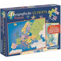 legpuzzel Geografie Europa 2-in-1 104 stuks