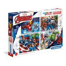 Legpuzzel 4-in-1 Avengers - 20/60/100/180 stukjes