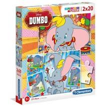 Clementoni legpuzzel Disney Dumbo 20 stukjes 2 stuks