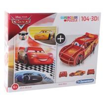legpuzzel met bouwpakket Cars 104 stukjes