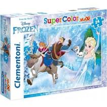 maxi supercolor legpuzzel Frozen 24 stukjes