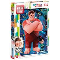 puzzel 3D-vision Disney Ralph 104 stukjes