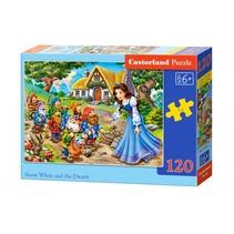 legpuzzel Snow white and the seven dwarfs 120 stukjes