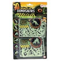 3D-puzzel glow-in-the-dark parasaurolophus & stegosaurus