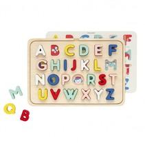 vormenpuzzel ABC 31 cm 26-delig multicolor