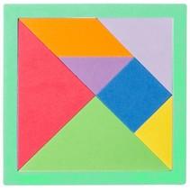 tangram vormenspel foam 15,5 cm lichtgroen