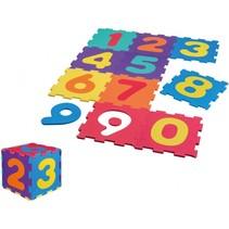 vloerpuzzel met cijfers 31 cm 20-delig multicolor
