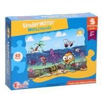 vloerpuzzel Underwater World 44 x 31 cm 45-delig multicolor