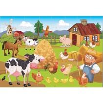 vloerpuzzel boerderij 48 stukjes
