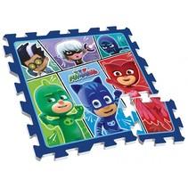 vloerpuzzel PJ Masks blauw 9-delig