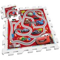 vloerpuzzel Cars rood/wit 9-delig