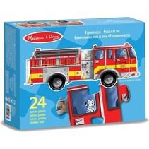 vloerpuzzel brandweerwagen 24 stukjes rood