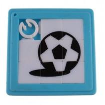 schuifpuzzel voetbal 5 cm blauw 8 stukjes