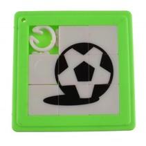 schuifpuzzel voetbal 5 cm groen 8 stukjes