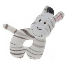 rammelaar zebra 14 cm wit/zwart