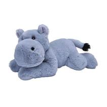 knuffel nijlpaard Ecokins Mini junior 20 cm pluche blauw