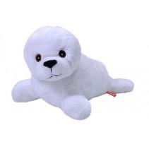 knuffel zadelrob puppy Ecokins junior 30 cm pluche wit