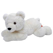 knuffel ijsbeer Ecokins junior 30 cm pluche wit