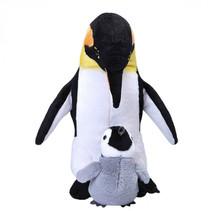 knuffel Pinguïn 30 cm pluche zwart/wit 2-delig