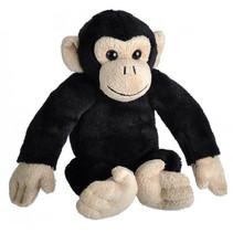 knuffel chimpansee 20 cm pluche zwart / taupe