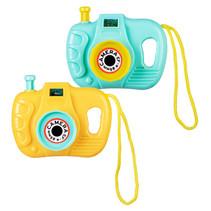 speelgoedcamera's 5,5 x 7 cm geel/blauw 2 stuks