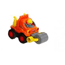 bouwauto oranje 10,5x5x7,5cm