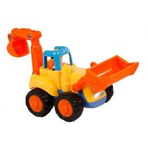bouwvoertuig shovel junior 16 cm oranje/geel