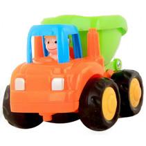 bouwvoertuig 7,5 cm oranje/groen