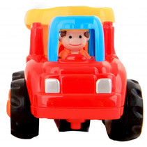 bouwvoertuig 7,5 cm rood/oranje