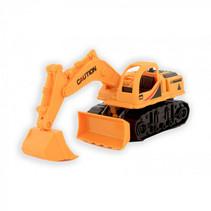werkvoertuig graafmachine jongens oranje 18,5x12x8 cm