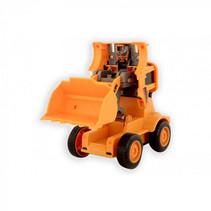 werkvoertuig loder jongens oranje 14 cm