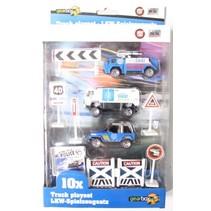 Truck Speelset Politie (1) 10 Stuks