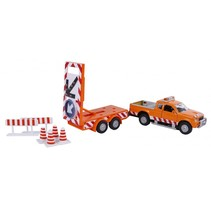 wegenwacht met aanhanger 27 cm oranje 8-delig