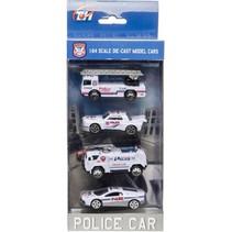 politievoertuigen 4 stuks o.a. ladderwagen