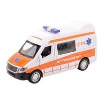 Super Cars Ambulance met licht en geluid 1:32 wit