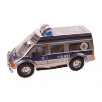 politieauto met frictiemotor 25 cm grijs