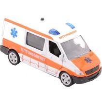 ambulance Super Cars met licht en geluid 17 cm