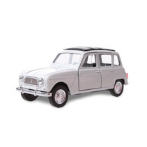 schaalmodel Renault 4 jongens 12 cm staal wit