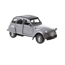 auto Citroën 2CV junior die-cast 11 cm grijs