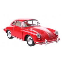 schaalmodel Porsche 1:32 junior die-cast 10 cm rood