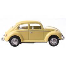 auto Volkswagen Beetle junior 6 cm die-cast geel