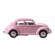 auto Volkswagen Beetle junior 6 cm die-cast roze